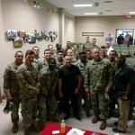 Ft Benning- Bernie w soldiers